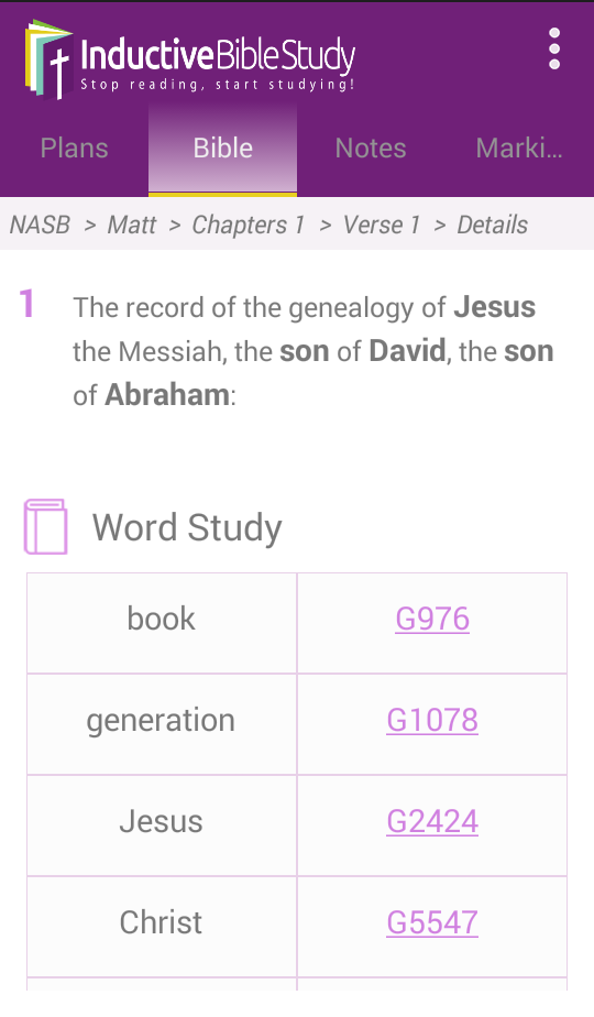 The Best Bible Study App -Inductive Bible Study